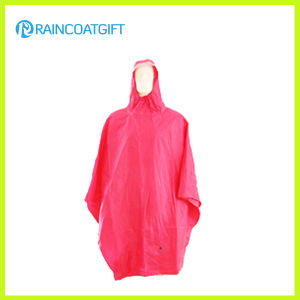 Reusable Waterproof Red PVC Raincoat pictures & photos