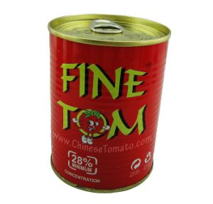 Fine Tom Brand Double Concentrate Tomato Sauce in Tins and Cans 400g pictures & photos