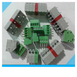 Factory Custom Colorful PCB Mount Spring Terminal Block (5.0mm 5.08mm pitch) pictures & photos
