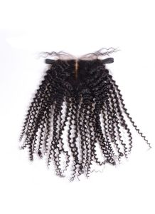 4X4 Silk Lace Closure Kinky Curly Front Lace Closure Piece pictures & photos