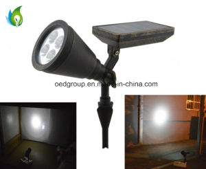 Aluminum Alloy LED Solar Spotlight with Rust Color and High Brightness pictures & photos