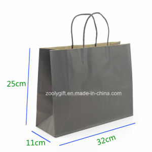 Eco-Friendly Fsc Kraft Paper Gift Bag with Twisted Handle Cake Packing Carrier Bag pictures & photos