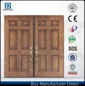 Fangda New Front Double Door Designs Fiberglass Door pictures & photos