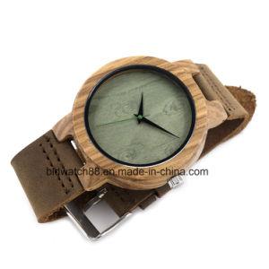Best Sale Analog Quartz Gents Wood Face Wrist Watches pictures & photos