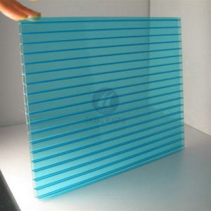 Lake Blue Twin-Wall Polycarbonate Hollow Sheet with UV pictures & photos