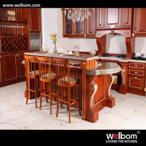 2016 Welbom Dark Color Wood Standard Kitchen Cabinet pictures & photos