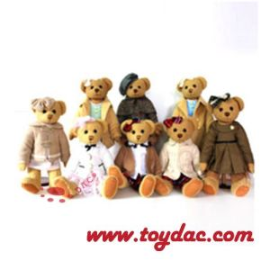 Plush Family Teddy Bear with Clothing pictures & photos