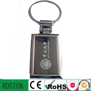 Promotion Custom Laser Logo Metal Keychain pictures & photos