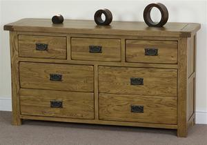 Living Room Furniture/Solid Oak 3+4 Drawers Cabinet (HSRU-007)