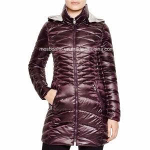 Purple Down Packable Coat pictures & photos