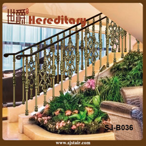 Indoor Bronze Aluminum Balustrade for Staircase Railing (SJ-B036) pictures & photos