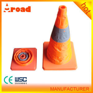 Collapsible Elastic Orange Traffic Cone with CE pictures & photos