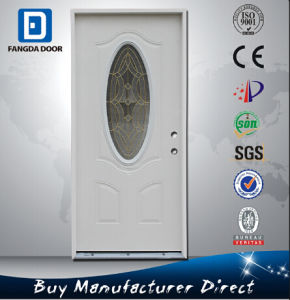 Fangda Small Oval Glass Steel Doors pictures & photos