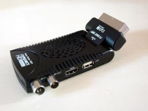 Mini Scart FTA Satellite Receiver with Biss