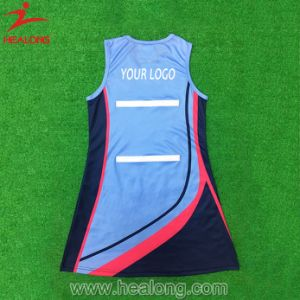 Healong Netball Uniforms Sublimtion Netball Jersey pictures & photos