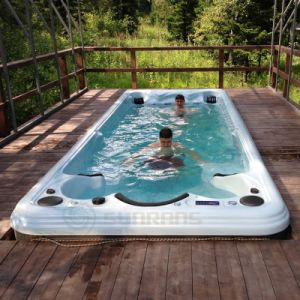 China outdoor used fiberglass rectangular massage low for Garden pools for sale