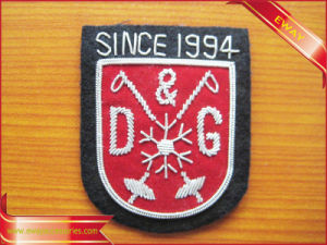 Customized Embroidery Patch Adhesive 3D Woven Patch pictures & photos