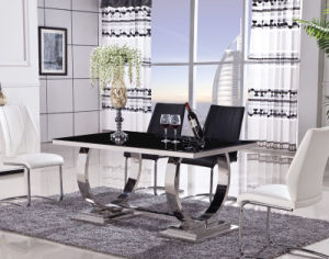 Stainless Steel PU Leather Dining Room Table Chair (ET48 & EC51)