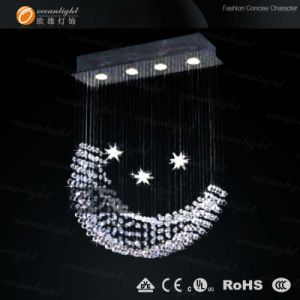 Popular Moon Shape Modern Crystal Pendant Lamp (Om9218) pictures & photos