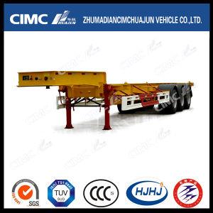 Cimc Huajun Big-Gooseneck 30FT 3axle Skeleton/Skeletal Container Semi-Trailer pictures & photos