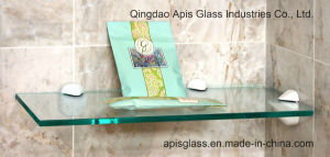 6 - 12 mm Bathroom Wall Mounted Shelf Tempered Glass/ Interior Decoration Glass pictures & photos