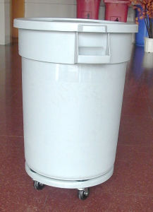 128L Plastic Trush Buckets with Wheels
