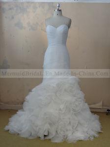 Mermaid Ivory Organza Wedding Dress (M1312071)