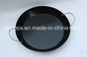 Kitchenware 38cm Carbon Steel Non-Stick Coating Paella Pan pictures & photos