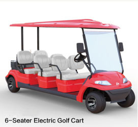 Electric Golf Cart with 6 Seats