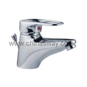 Brass Basin Faucet with Pop-up Drain Waste (SW-7714) pictures & photos
