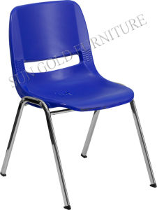 School Chair Navy Stack Plastic Chair (SZ-SF15) pictures & photos