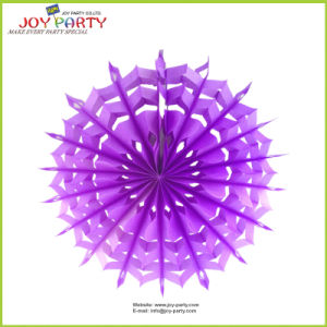 Light Purple Snowflake Paper Fans pictures & photos