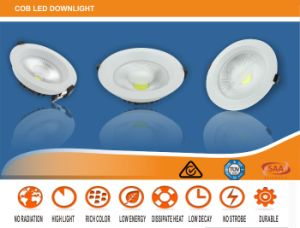 20W Indoor Aluminum and Nano-Plastic Material LED Dimmable Downlight