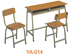 Good Quality Double Student Desks and Chairs (YA-014) pictures & photos