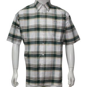 Men′s Oxford Short Sleeve Woven Shirt HD0043