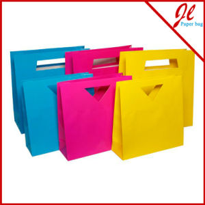 Medium Kraft Gift Bag, Chevron Design. Paper Shopping Bag Customized Shopping Bag Print Logo. pictures & photos