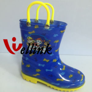 Kids Fashion Style Colorful Rubber Rain Boots pictures & photos