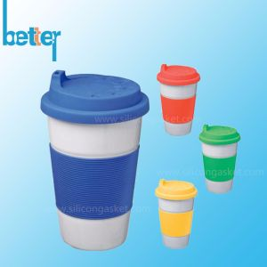 Custom Personalized Reusable Silicone Coffee Cup Sleeve pictures & photos