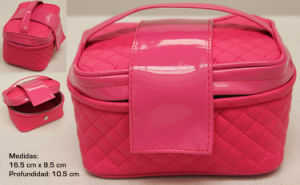 Fashional Beautiful Lady′s PU Leather Cosmetic Bag pictures & photos