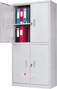 School Office 4 Tires 2 Doors Complete Steel Filling Cabinet for Books and Files pictures & photos