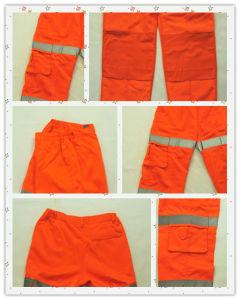 2017 High Quality Hi Vis 100% Cotton Reflective Work Pants Uniform for Men pictures & photos