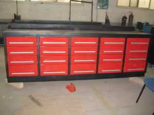 10ft 20 Drawer Tool Box Workbench (HLT-ZXG-102) pictures & photos