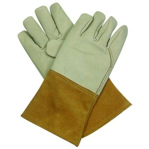 Light Color Split Leather Work Glove Safety Equipment pictures & photos