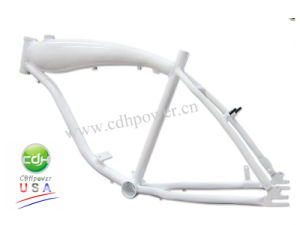 Gasoline Moped Bicycle Frame/Bicycle V Frame with 3.75L Tank/Silver Frame pictures & photos