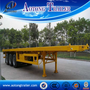 Hot Sale 3 Axles Flatbed Shipping Container Transport Semi Trailer pictures & photos