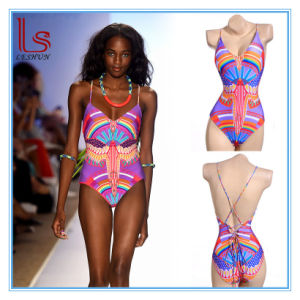 Lady Sexy Printing One-Piece Swimwears pictures & photos