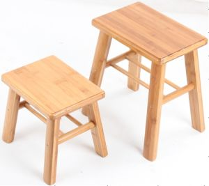 Bamboo Square Stools for Household (QW-JCSG07) pictures & photos