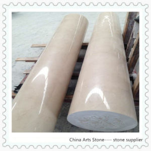 Beige Marble Column, Pillar for Villa Project pictures & photos