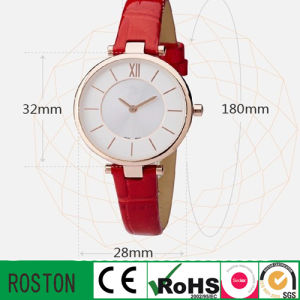 Genuine Leather Strap Fashion Ladies Watch pictures & photos