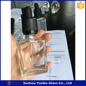 30ml Rectangle Glass Dropper Bottles Flat E Liquid Bottles
